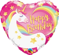18 inch Happy 18 inch Happy Birthday Magical Unicorn foil balloon