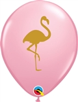11 inch Flamingo Print on Pink