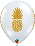 11 inch Pineapple Print on Diamond Clear
