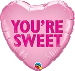 18 inch You're Sweet Candy Heart Foil Balloon