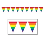 12ft Rainbow Pennant Banner, Price Per EACH