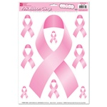 12in x 17in Pink Ribbon Window Clings