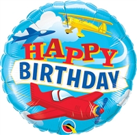 18 inch Birthday Airplanes Foil Balloon