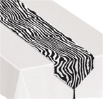 6 foot x 11 inch Table Runner ZEBRA Print