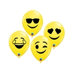 5 inch Qualatex Smiley Faces on Yellow