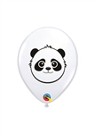 5 inch Qualatex Panda BEAR Head on WHITE