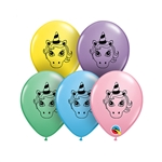 5 inch Qualatex Unicorn Head Pastel Assortment