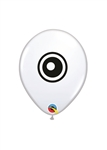 5 inch Qualatex Eyeballs on WHITE-2 Sided