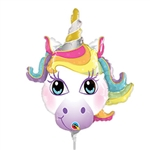 14 inch Magical Unicorn Head Mini Shape Balloon