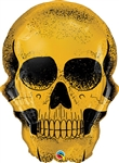 Golden Skull Foil Balloon