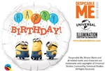 18 inch Minions Birthday Foil Balloon