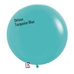 24 inch Deluxe Turquoise BLUE  Balloon