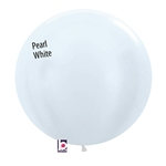 24 inch Pearl WHITE Balloon