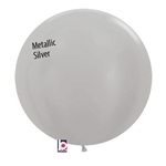 24 inch Metallic SILVER Balloon