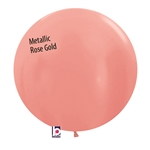 24 inch Metallic ROSE GOLD Balloon