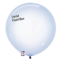 Crystal Pastel BLUE Balloons