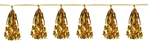 9 3/4 inch x 8 feet Gold Metallic Tassel Garland