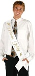 33in x 4in Prom King Satin Sash