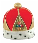 Full size Red Plush Imperial Queen's Crown, Price Per EACH