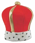 Full size Red Plush Imperial King's Crown