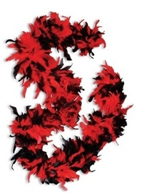 6 foot RED & BLACK  Boa