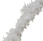 6ft WHITE Feather Boa