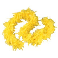 6ft YELLOW Feather Boa
