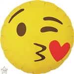 18 inch EMOTICON KISSING HEART ROUND Northstar