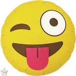 EMOTICON WINKING Foil Balloon