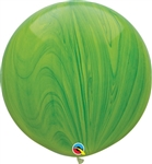 30 inch SuperAgate Qualatex GREEN Rainbow