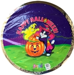 20 inch Lisa Frank Happy Halloween Skeleton and Witch Foil Balloon