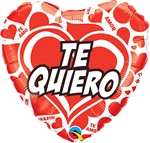 Te Quiero Red Hearts Balloon
