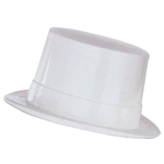 Full size WHITE Plastic Top Hat