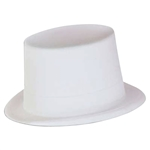 Full size White Velour Top Hat