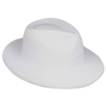 Full size White Velour Fedora, Price Per EACH, Minimum Order 3