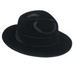 Full size Black Velour Fedora, Price Per EACH