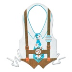 Plastic Oktoberfest Vest with a Tie