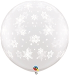 3ft Snowflakes-A-Round DIAMOND CLEAR