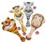 9in Zoo Animal Paddle Ball