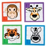 2 1/2 inch Zoo Animal Slide Puzzles