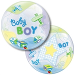 22 inch Baby BOY Airplane BUBBLES (PKG), Price Per EACH