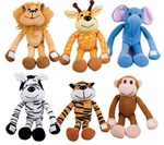 6in Hug Me Zoo Animal Plush