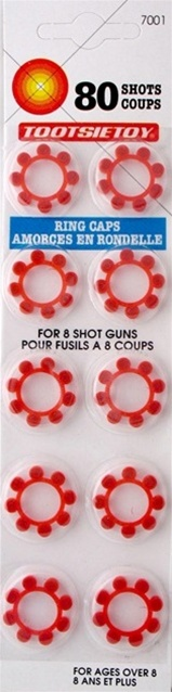 8 Shot Ring Caps Package of 10