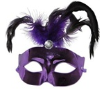 Purple Mask with Feather