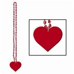 Cinnamon Heart Beads with Heart Medallion