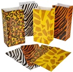 10 inch x 5 inch Safari Print Gift Bag