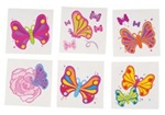 2in Butterfly Tattoos Assorted, Price Per GROSS