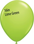 16 inch Qualatex Fashion LIME GREEN Latex Balloon