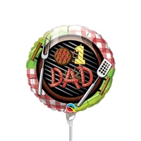 #1 Dad Grill Balloon