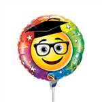 Smiley Graduate Foil Balloon